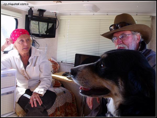 Kelly, Al & Pheebs from the Bayfieldbunch in Sue's casita Congress Arizona
