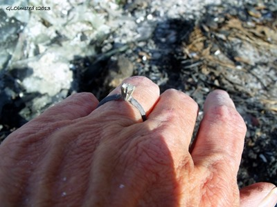Found diamond ring in ashes Yarnell Arizona