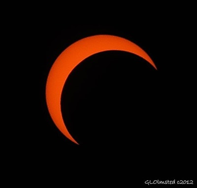Partial eclipse North Rim Grand Canyon National Park Arizona