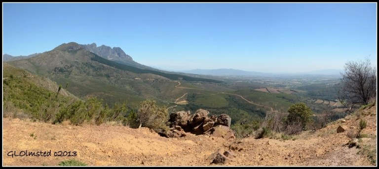 Valley below Bain's Kloof South Africa