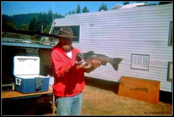 Dale with salmon Carson Washington