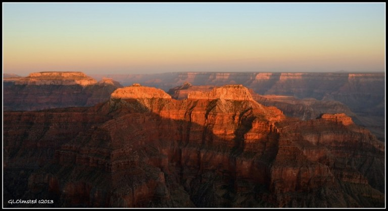 Last light view from Point Sublime North Rim Grand Canyon National Park Arizona