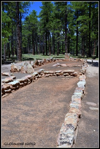 Walhalla Glades ruin Walhalla Plateau North Rim Grand Canyon National Park Arizona