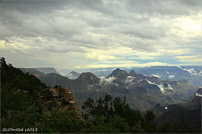 Clouds in the canyon North Rim Grand Canyon National Park Arizona
