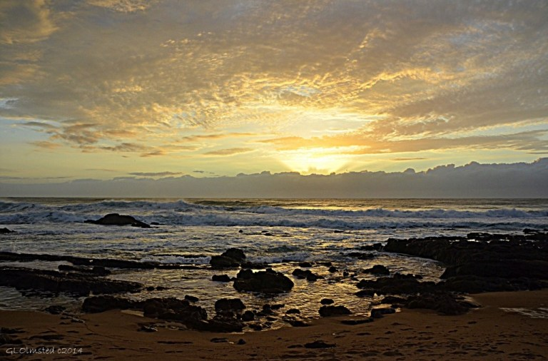 Sunrise over Indian Ocean Scottburgh Caravan Park Scottburgh South Africa
