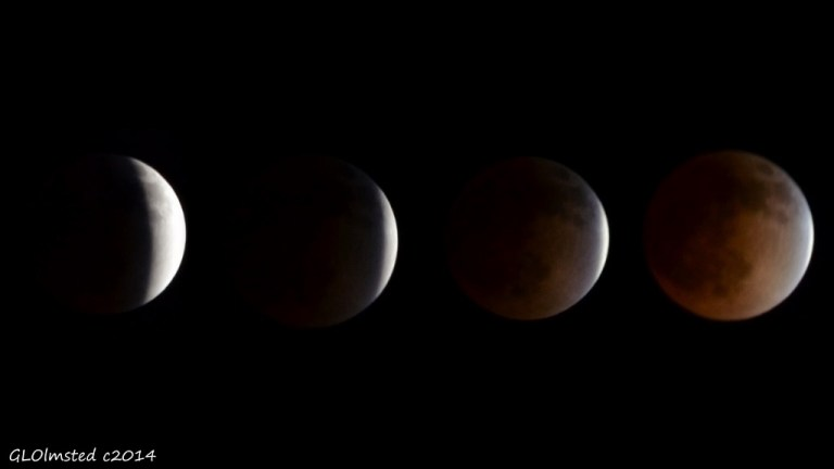 Partial lunar eclipse series Yarnell Arizona