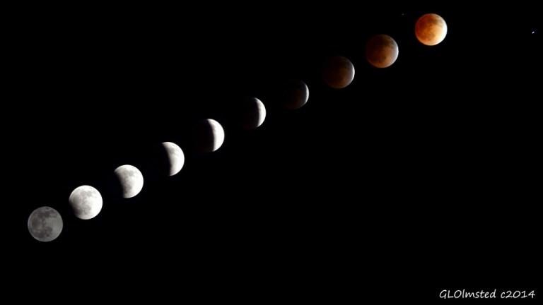 April 2014 lunar eclipse Blood Moon 9:27pm to 12:03am Yarnell Arizona