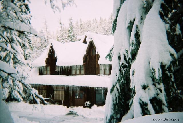 Chateau under snow Oregon Caves National Monument Oregon