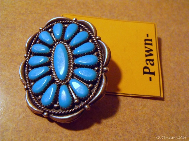 Zuni petit-point pin sterling silver and turquoise