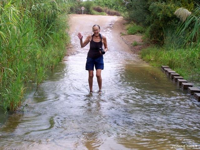 06 102_3126 Gaelyn wading Augrabies Falls NP SA by Joan g