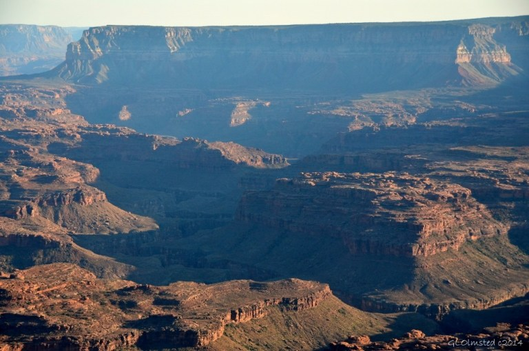 Shadow over Colorado River canyon from Jumpup Point Grand Canyon Arizona