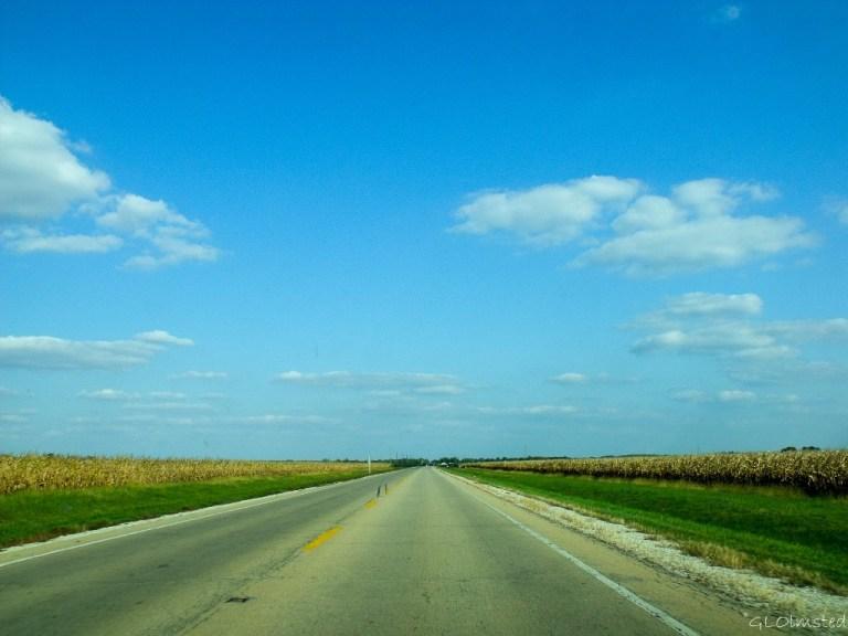Corn fields along SR6 east of Utica Illinois