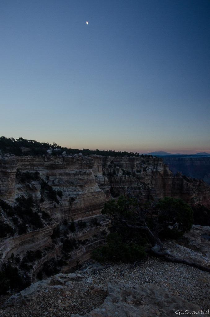 Moon over Cape Royal North Rim Grand Canyon National Park Arizona