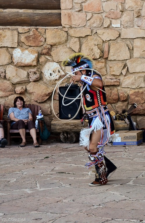 Derek hoop dancing Heritage Days North Rim Grand Canyon National Park Arizona