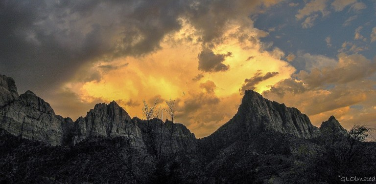 Sunset from South Campground Zion National Park Utah