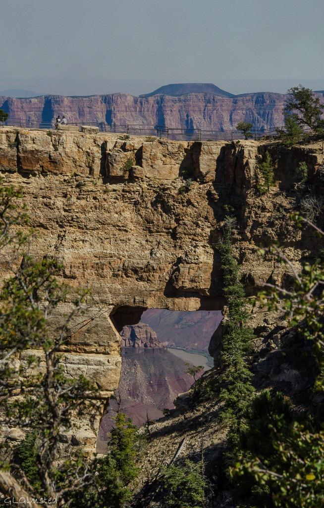 Colorado River thru Angels Window Cape Royal North Rim Grand Canyon National Park Arizona