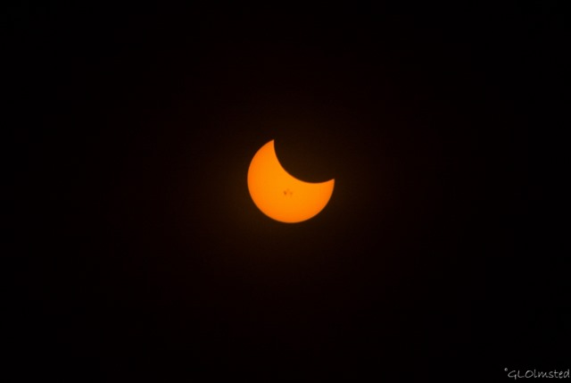 Partial solar eclipse Prescott Arizona