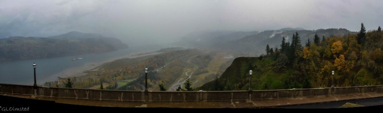 Columbia River view from Vista House Crown Point Columbia R Gorge Scenic Highway Oregon