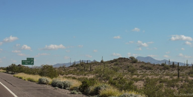 Freeman Rd exit I8 Sonoran Desert National Monument Arizona