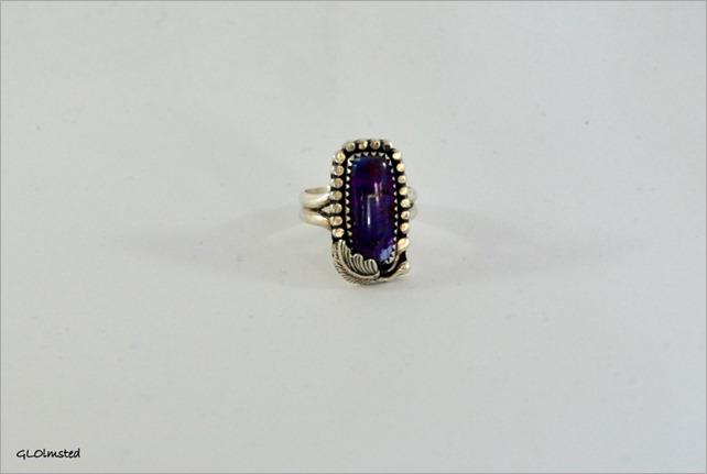 Dyed Kingman turquoise ring
