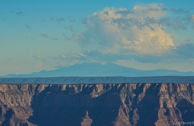 Mount Humphreys from Walhalla overlook North Rim Grand Canyon National Park Arizona