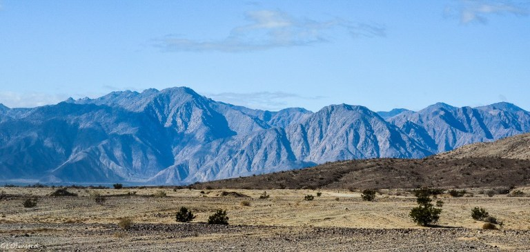 Coyote Mountain in foreground Peg Leg BLM Anza-Borrego Desert State Park California