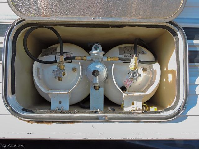 Camper propane tanks Yarnell Arizona