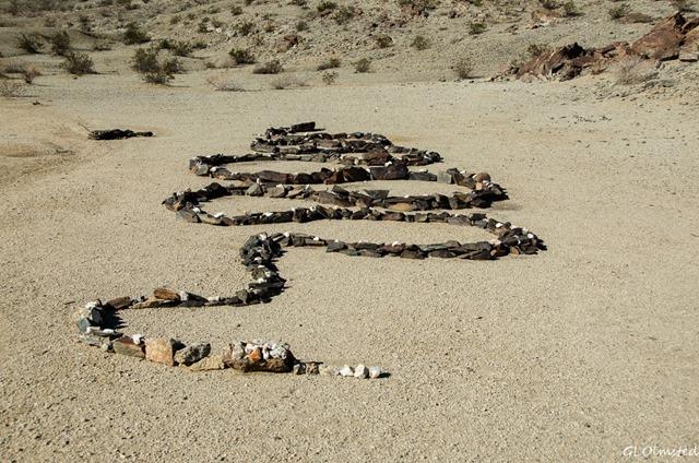 Rock snake Coyote Mt Peg Leg BLM Anza-Borrego Desert State Park California