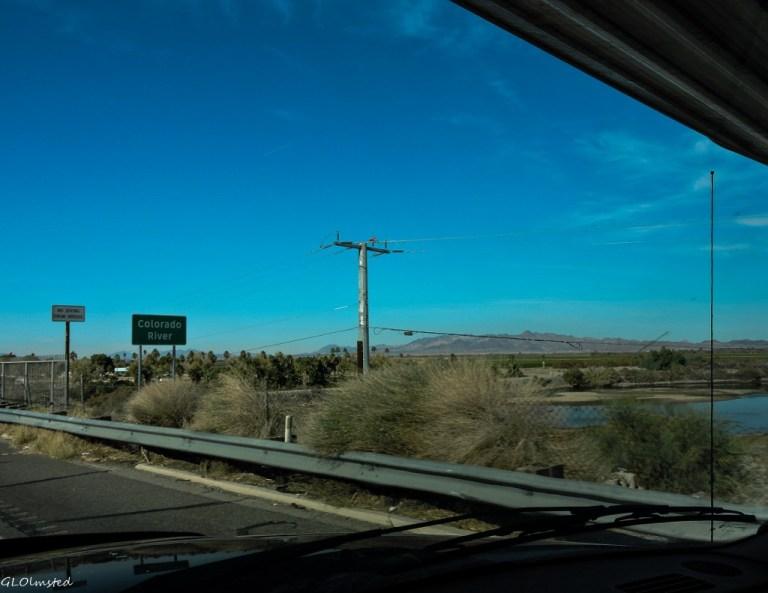 Crossing Colorado River into California I10 West