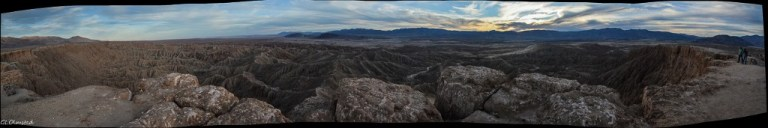 Badlands from Fonts Pt Anza-Borrego Desert State Park California