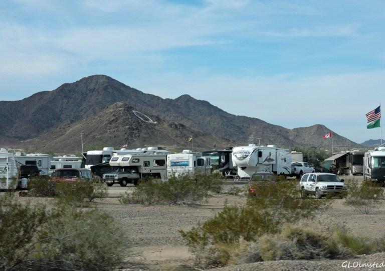 RVs & Q Mt US95 Quartzsite Arizona