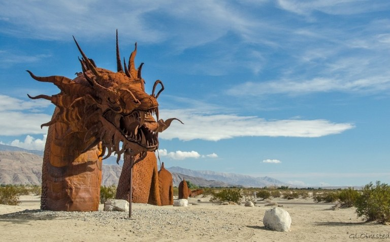Serprent metal sculpture by Ricardo Breceda Galleta Meadows Borrego Springs California