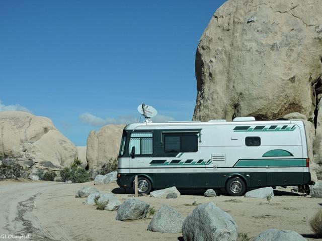 Motorhome Belle campground Joshua Tree National Park California