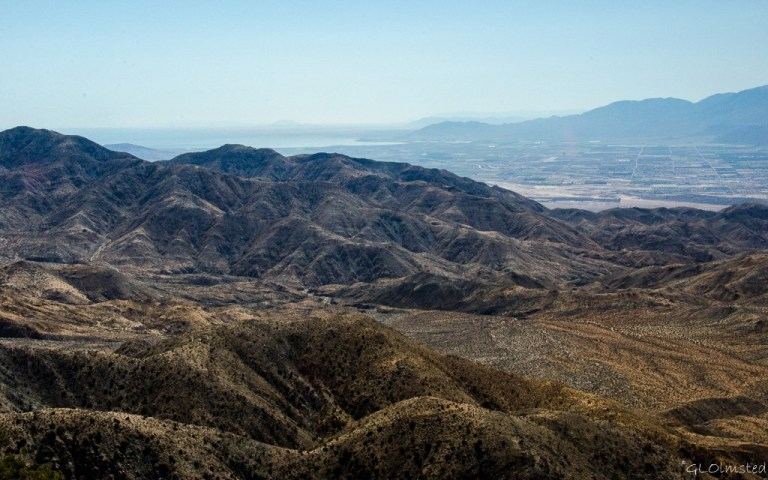 Salton Sea, Indio & Santa Rosa Mountains from Keys View Joshua Tree National Park California