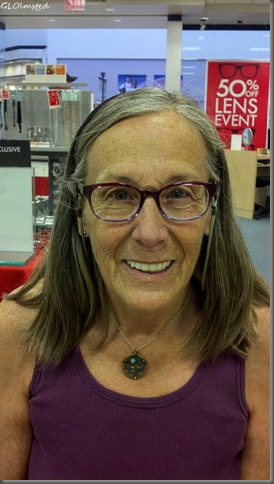 Gaelyn wearing new glasses Prescott AZ