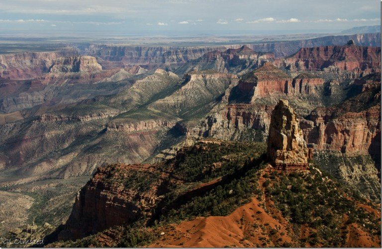Mt Hayden & canyon beyond from Point Imperial North Rim Grand Canyon National Park Arizona