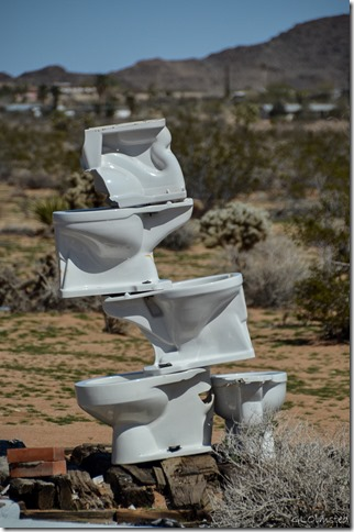 Noah Purifoy's Outdoor Desert Art Museum of assemblage sculpture Joshua Tree California
