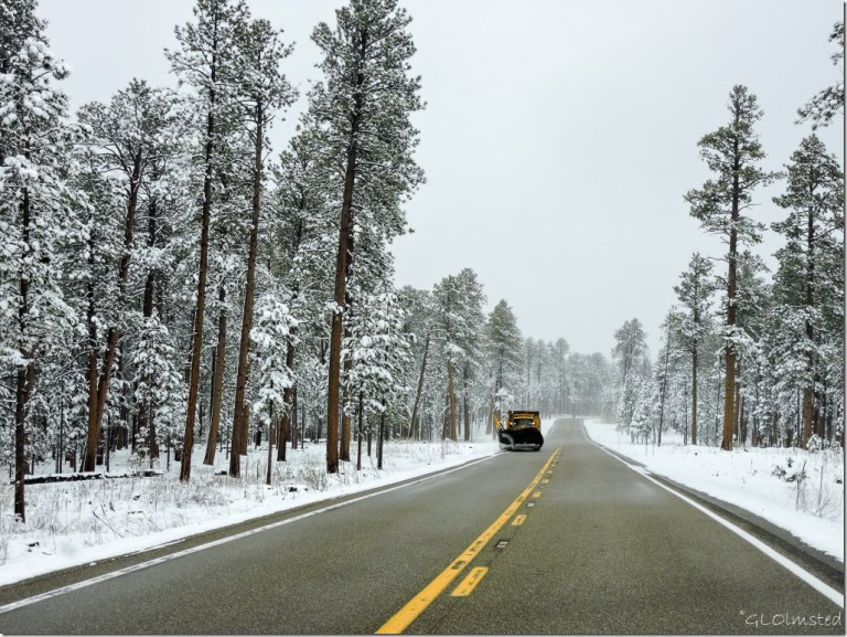 Snowplow SR67 N Kaibab National Forest Arizona