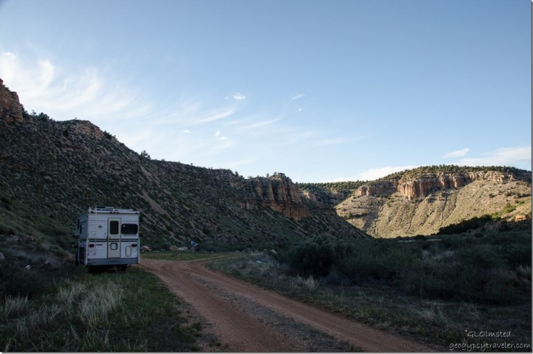 Truck camper Snake Gulch trail head Kaibab National Forest Arizona