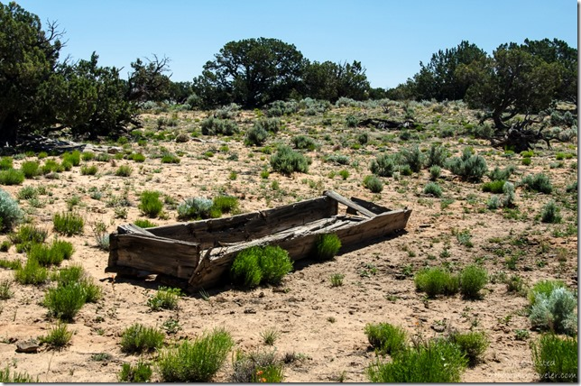 Old wooden water trough Vermilion Cliffs Arizona