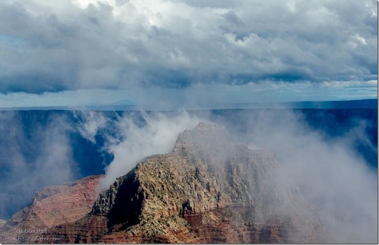 Inversion Vishnu Temple Cape Royal North Rim Grand Canyon National Park Arizona