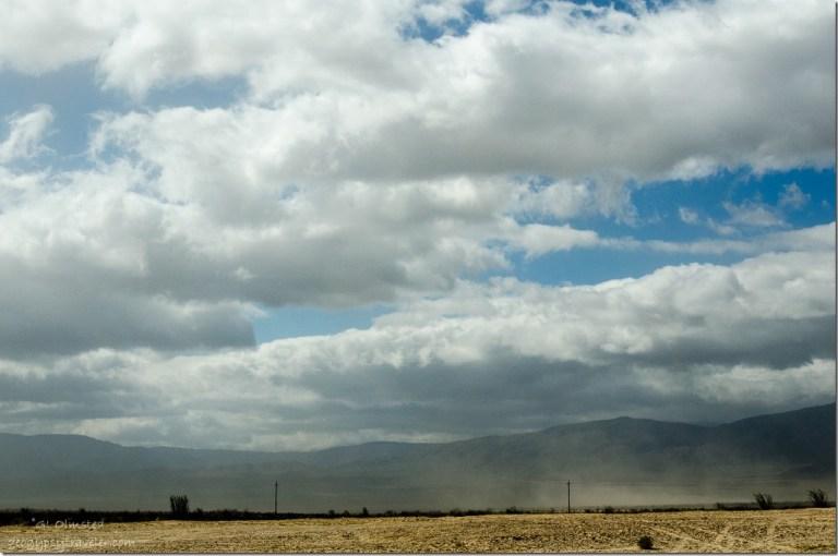 Dust storm Rockhouse Trail Anza Borrego Desert State Park California