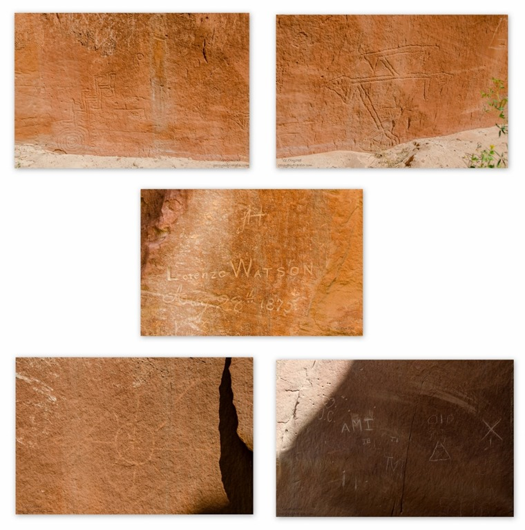 Indigenous, historic & contemporary rock art Kanab Utah