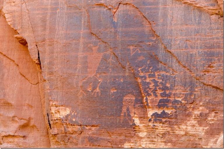 Native petroglyphs Kanab Utah