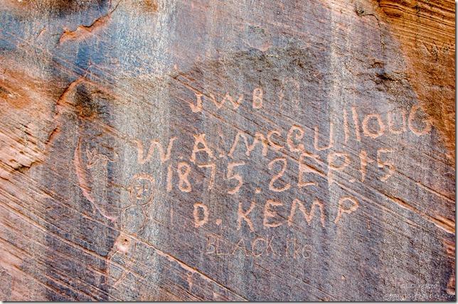 Historic & modern petroglyphs Kanab Utah