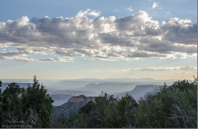Hazy canyon W Crazy Jug Point Kaibab National Forest Arizona