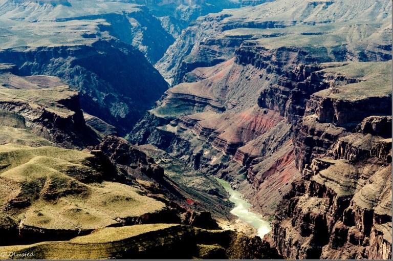 Colorado River from South Rim Grand Canyon National Park Arizona