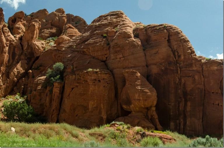 Sandstone cliffs Upper Buckskin Gulch Paria Canyon/Vermilion Cliffs Wilderness area Utah