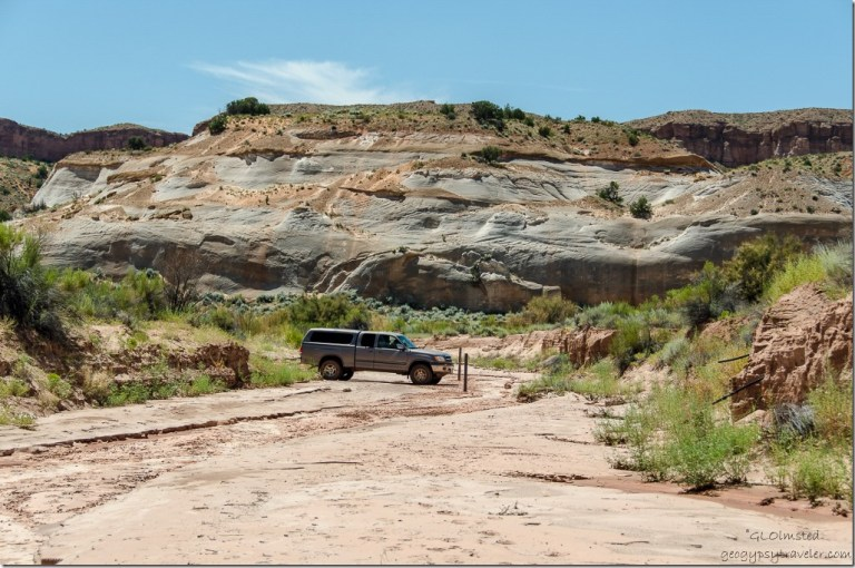 Bill's truck White House Road Grand Staircase-Escalante National Monument Utah