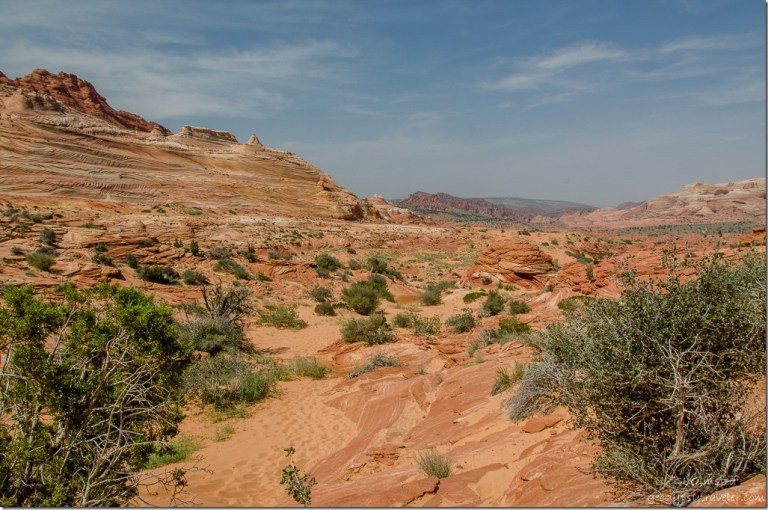 View south from The Wave Paria Canyon-Vermilion Cliffs Wilderness Arizona
